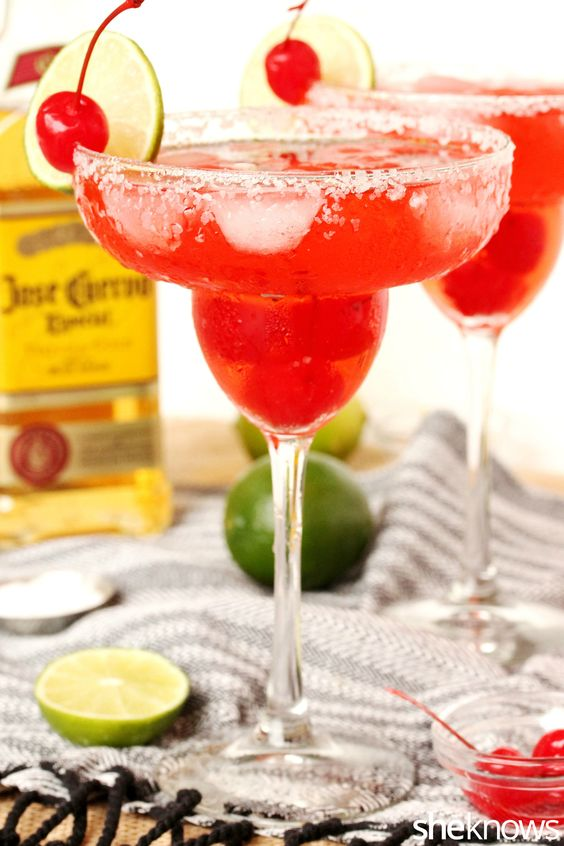 Shirley Temple margaritas pack a grown-up punch with a cherry on top