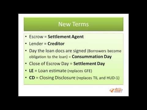 TILA RESPA Integrated Disclosure Highlight for Originators - loan estimate form