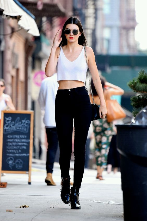 white top, black jeans @roressclothes closet ideas #women fashion outfit #clothing style apparel