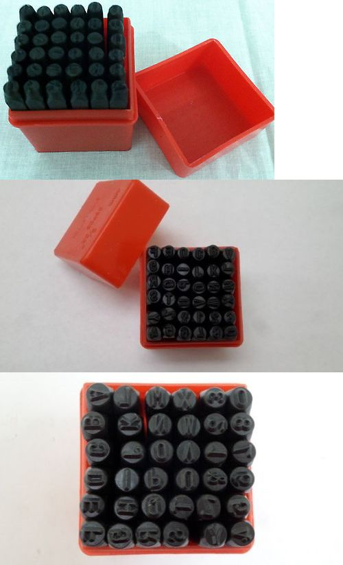 """36pc Number and Letter Punch Set 1//4/"""" Hardened Steel Metal Die Jewelers w//Case"""