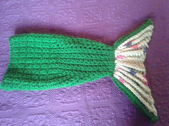 Cola de sirena a crochet para niña de 4 año.