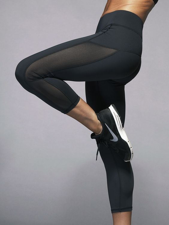 Michi Stardust Capris in Black Workout outfit | Fitness Apparel | Gym Clothes | Yoga Clothes | Sport bras | Tank Tops | Tights | Workout shorts | Shop @ http://www.FitnessApparelExpress.com