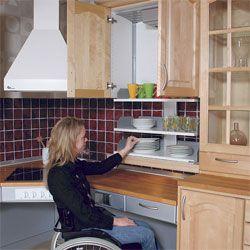 Accessible kitchens wheelchair kitchen design for the for Wheelchair accessible kitchen ideas