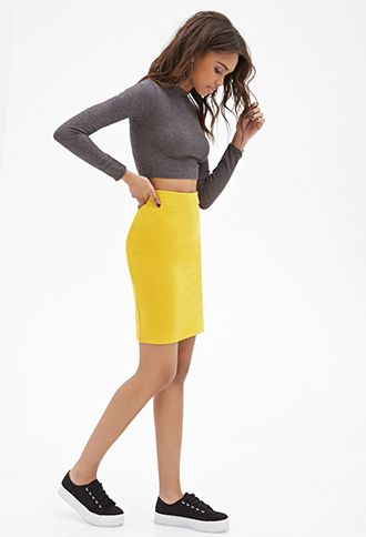 Knit Pencil Skirt | Forever 21 Canada