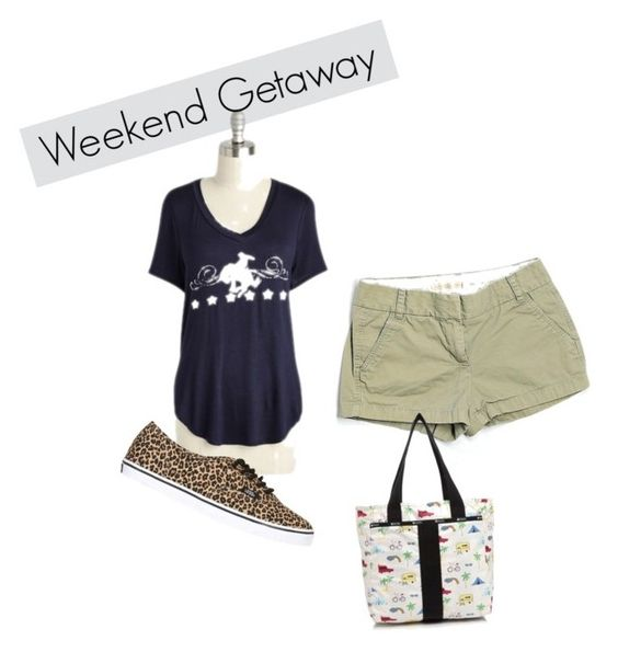 Summer Break by julialawrence-i on Polyvore featuring J.Crew, Vans, LeSportsac, Summer and casualoutfit