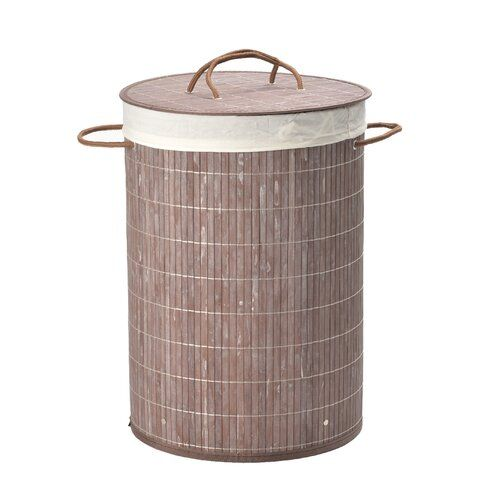 Bamboo Laundry Basket With Liner Wayfair Basics Colour Chocolate