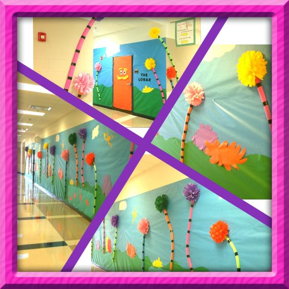 Lorax Classroom Decor ~ The lorax hallway decorations classroom ideas