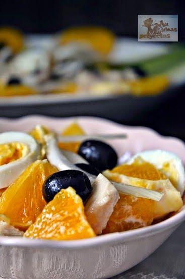 """Remojón o ensalada de naranja del blog Mil Ideas Mil Proyectos Cocineros del Mundo: Recetas Participantes en el Reto de Febrero 2015 """"Huevos o Cítricos"""""""