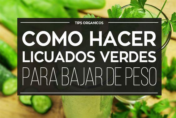 Como hacer nutritivos licuados verdes para bajar de peso - Como hacer pimientos verdes fritos ...