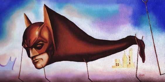 Sleep Batman Sleep, in the style of Dali: Hero, Www Mikecappart Com, Surrealist Artwork, Comic Book, Artwork Sleep, Sleep Artwork, Salvador Dalí Art