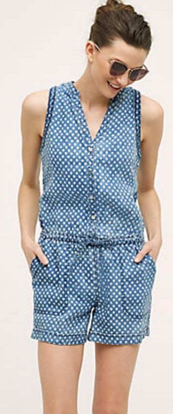 Dottie Chambray Romper