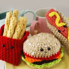 Fast Food Trio amigurumi crochet pattern by You Cute Designs