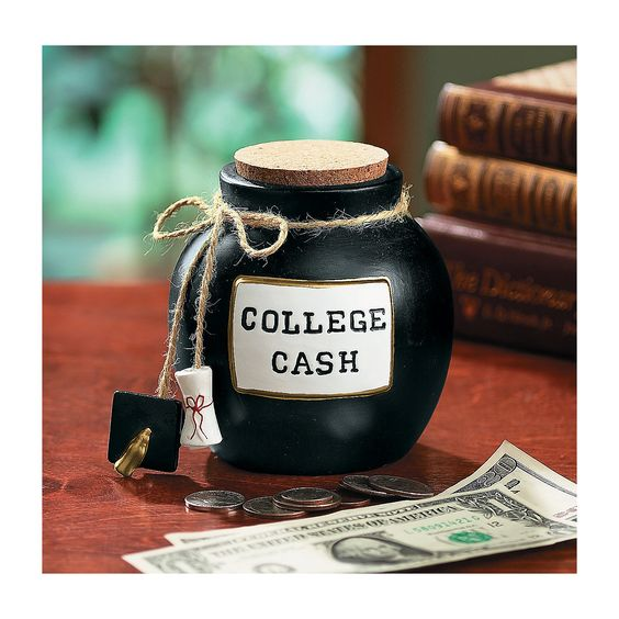Student favor college cash fund jar would be great - Graduation gift for interior design student ...
