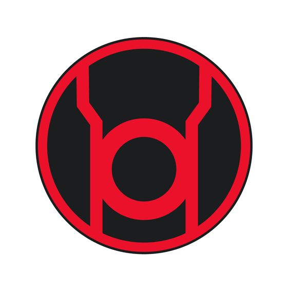 Symbol of the Red Lanterns, representing Rage.