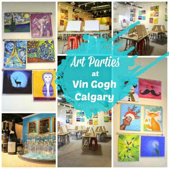 Vin Gogh: Art Parties in Calgary (kids get to paint, you get WINE)