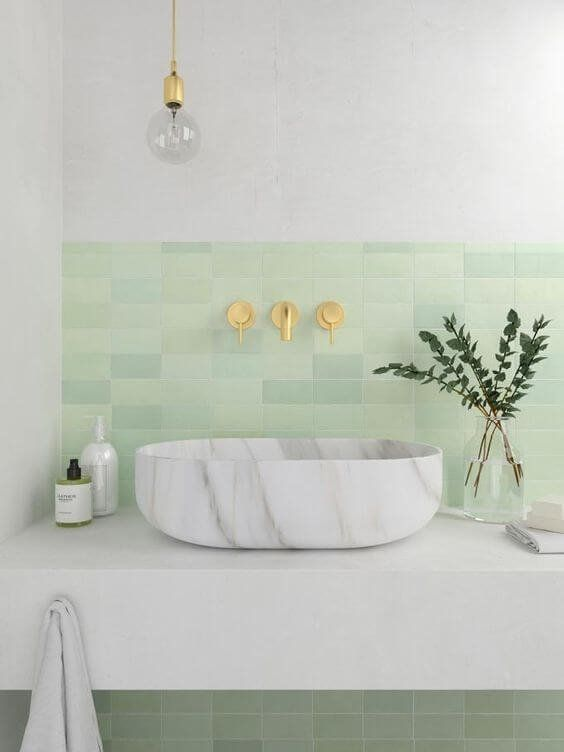 Tile Trends 2020.Color Trend 2020 Neo Mint In Interiors And Design Bathtub