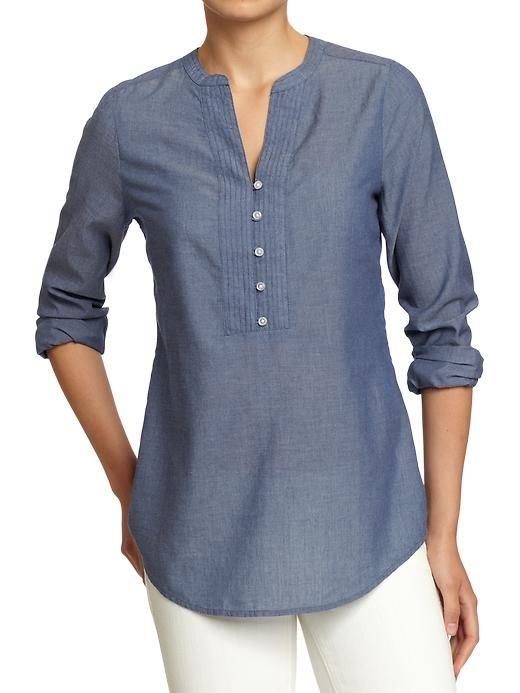 Old Navy | Women's Split-Neck Button-Front Tops  $24.94
