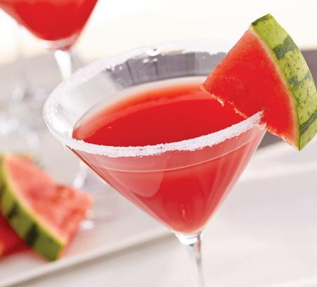 Watermelon Martinis Cocktail Recipe >> #WorldMarket Cheers | Cocktail ...
