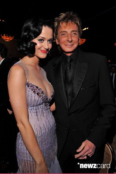 Singers Katy Perry and Barry Manilow attend the 2009 GRAMMY Salute To Industry Icons honoring Clive Davis at the Beverly Hilton Hotel on February 7, 2009 in Beverly Hills, California. (Photo by Lester Cohen/WireImage)