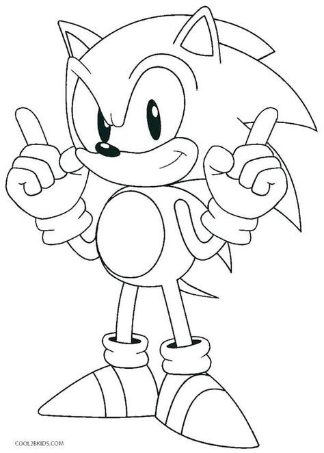 Sonic The Hedgehog Coloring Pages Monster Coloring Pages