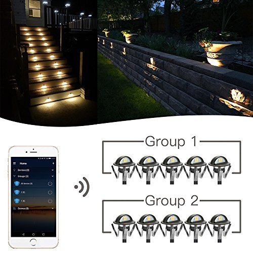 Wifi Deck Lights Fvtled Wifi Controlled 10pcs Low Voltage Led Deck Lights Kit µ1 38 Outdoor Recessed Step Sta Led Deck Lighting Deck Lights White Led Lights