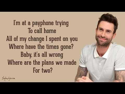Payphone Maroon 5 Ft Wiz Khalifa Lyrics Songs That Describe Me Maroon 5 Wiz Khalifa