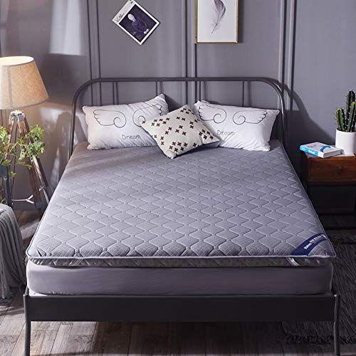 Hotel Mattress Topper Thicken Tatami Cotton Silent Mattress Floor Mat Foldable Twin Bed Roll Multi Size Gray Hotel Mattress Mattress On Floor Mattress Topper