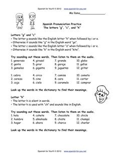 Printables Spanish Practice Worksheets posts spanish and other on pinterest free pronunciation practice worksheet plus audio httpwww spanish