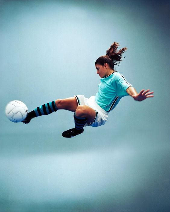 """Mia Hamm. I love these words from her mouth: """"My coach said I run like a girl and I told him if he ran a little faster, he would too."""""""