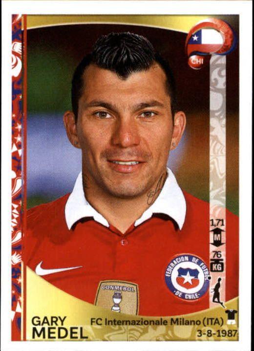 2016 Panini Copa America Centenario Stickers #336 Gary Medel - NM-MT