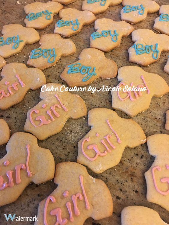 Gender reveal cookies