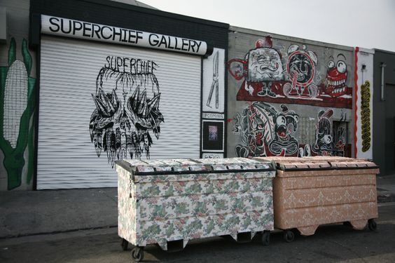 Wallpapered Dumpsters Transform Downtown Los Angeles | C. Finley's World Renown Street Art Project Comes to Superchief Gallery LA