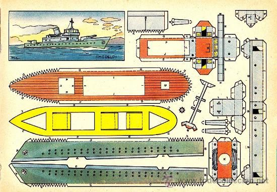 Coleccionismo recortables recortable barco de guerra for Arquitectura naval pdf
