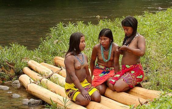 Panama indian tribes girl