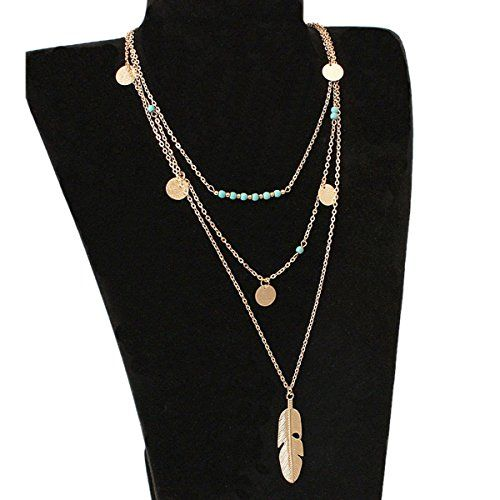 Bohemian Long Tassel Charm Bijoux Pendentifs Collier plume Pull Chaîne