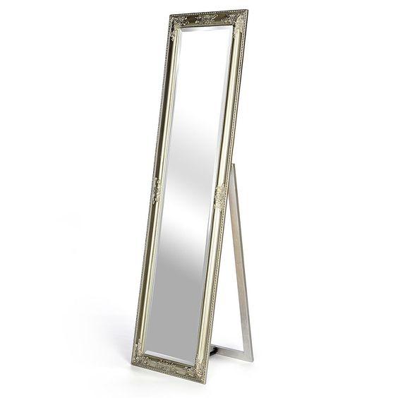 Standspiegel Kiefer silber ca L:45 x T:3 x H:170 cm