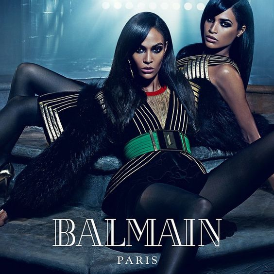 Erika and Joan Smalls for Balmain Fall 2015