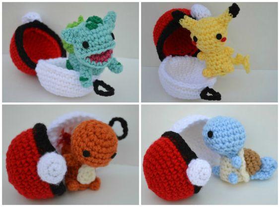 Chibi Pikachu Amigurumi : Chibi Pikachu Plush Amigurumi Doll crochet Pokemon ...