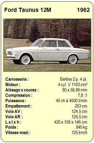 Ford Taunus 12M - 1962