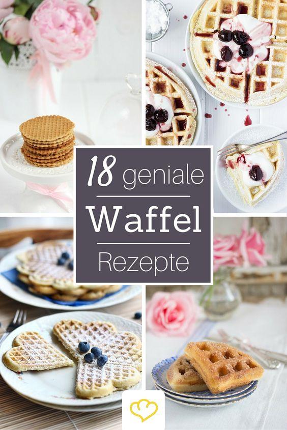 Waffeln gehen einfach immer! 18 himmlische Waffel-Rezepte von deutschen Food-Bloggern. Von süß bis herzhaft ist für jeden Anlass und Geschmack was dabei!
