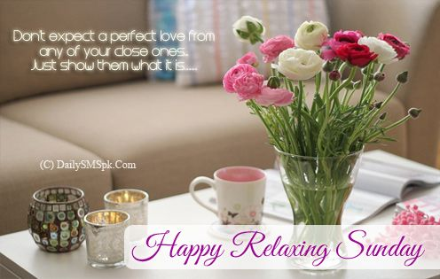 Happy Relaxing Sunday Quotes and Cards Wishes Wallpapers