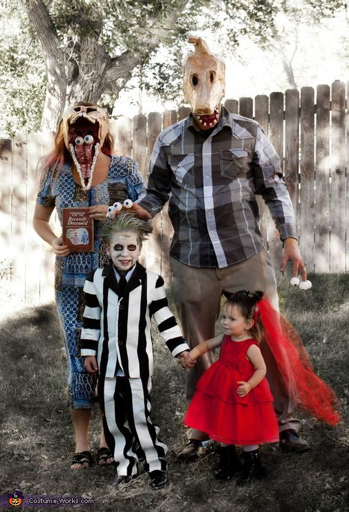 Image Result For Beetlejuice Costume Family Scary Kids Halloween Costumes Halloween Costumes For Kids Scary Halloween Costumes