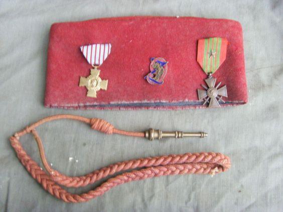 Chéchia FEZ DU 9E Zouave WW2 Croix DE Guerre Fouragére | eBay