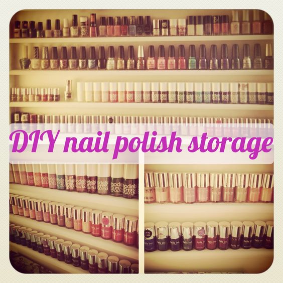 DIY tutorial on how to make your own nail polish storage