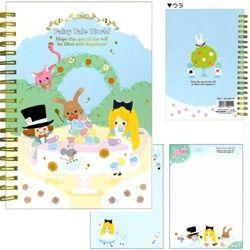Kamio *Alice in Wonderland* Fairy Tale World B6 Hard Cover Spiral Notebook