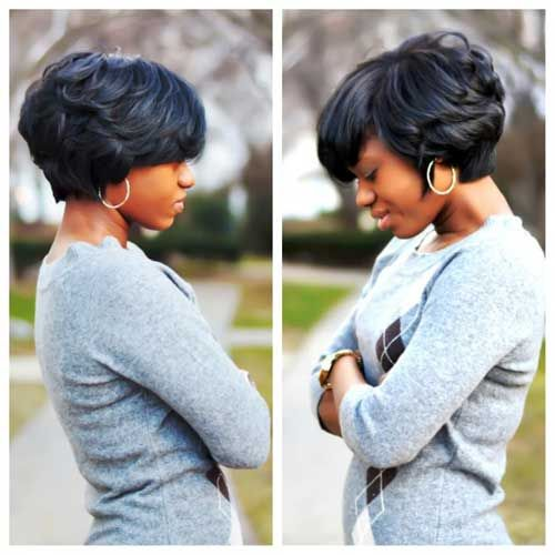 Peachy Haircut For Thick Hair Thick Hair And Short Haircuts On Pinterest Short Hairstyles For Black Women Fulllsitofus