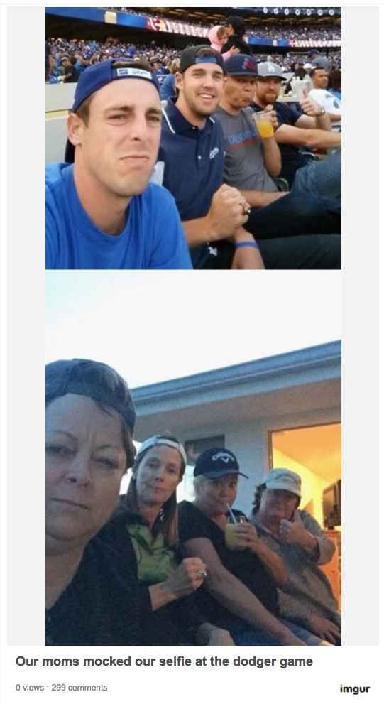 These moms who sublimely mocked their sons' group selfie