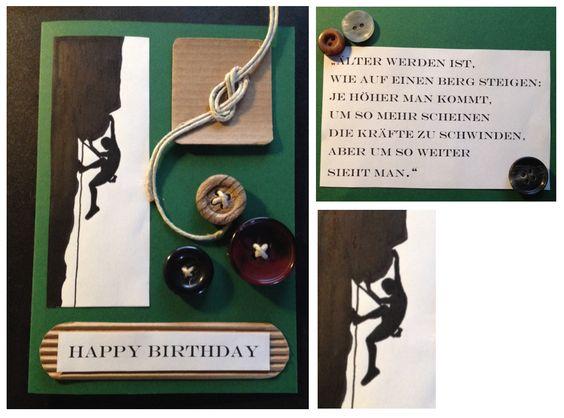 Geburtstagskarte klettern birthday card climbing for Pinterest geburtstagskarte