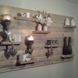 Prachtig wandbord van steigerhout!