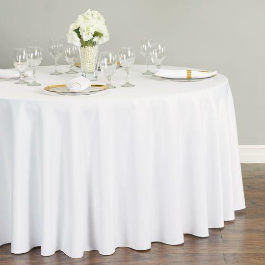 108 In Round Polyester Tablecloth Kruglaya Skatert Dekor Stol